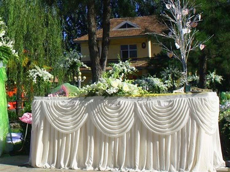 Tafekleden draperen bruiloft