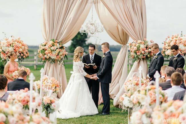 Draperen ceremonie bruiloft