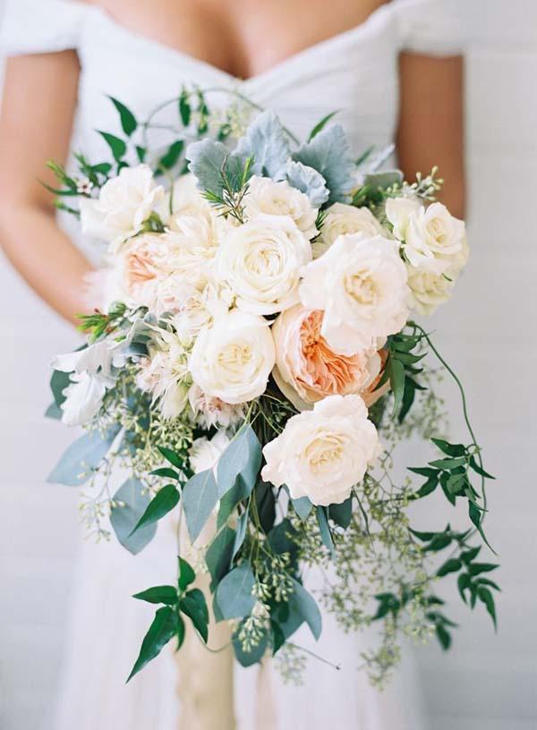 Druppelvorm -bruidsboeket