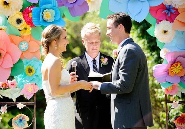 kleur rijke huwelijksceremonie
