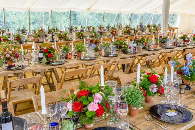 Kleur tafels bruiloft