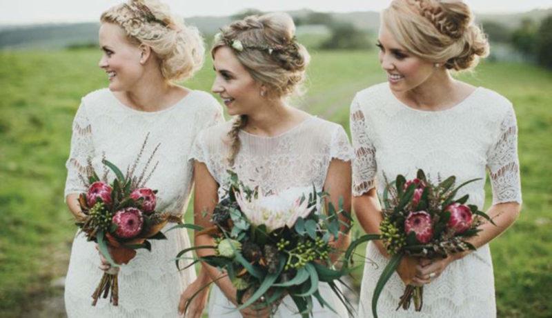 Voorbeelden bruidskapsels