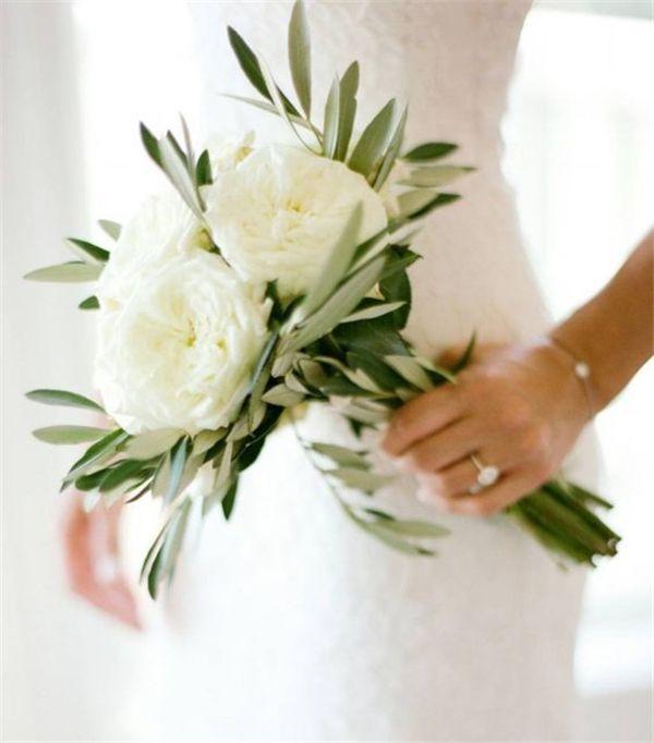 Linear-bruidsboeket