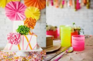 Bruiloft in Neon kleuren