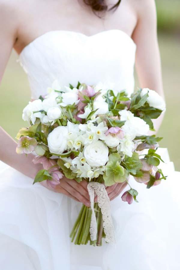 Handgebonden-bruidsboeket
