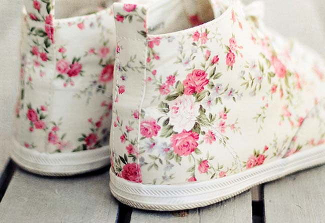 Converse bruidssneakers