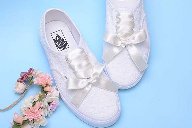 Vans sneakers bruid