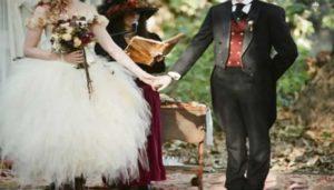 Steamy punk vintage bruiloft