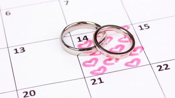 Een trouwdatum kiezen