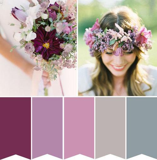 Mauve kleur combineren