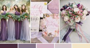 Mauve kleur thema bruiloft